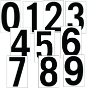 """DOT Placard 3.5"""" Numbers"""