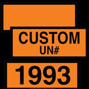 DOT Orange Panels<br >Blank, Preprinted & Custom