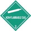 Class 2<br />NON-FLAMMABLE GAS<br />Worded Label<br />Paper, 500/roll
