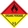 Class 5<br />ORGANIC PEROXIDE<br />Worded Label<br />Paper, 500/roll