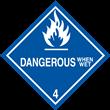 Class 4<br />DANGEROUS WHEN WET<br />PVC-free Poly, 500/roll
