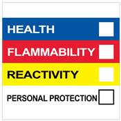 "HMIS® Label<br />with Personal Protection<br />4"" X 4"", PVC-Free Poly<br />500/Roll"