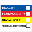"""Right To Know Label<br />with Personal Protection<br />4"""" X 4"""", PVC-Free Poly<br />500/Roll"""