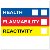 "HMIS® Label<br />w/o Personal Protection<br />4"" X 4"", Paper, 500/Roll"