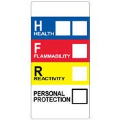 "HMIS® Label<br />with Personal Protection<br />1"" x 2"", PVC-free Poly<br />500/roll"