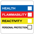 "Right To Know Label<br />with Personal Protection<br />2"" x 2"", PVC-free Poly<br />500/roll"