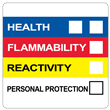 "Right To Know Label<br />with Personal Protection<br />4"" X 4"", PVC-Free Poly<br />500/Roll"
