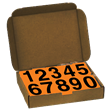 4 Inch UN Numbers<br /> for Orange Panels<br />1 Kit of #'s 0-9, 50 ea