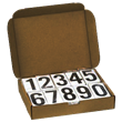 3.5 Inch Numbers for Placards<br /> 1 Kit of #'s 0-9, 50 ea