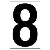 3.5 Inch Number 8<br />for Placards