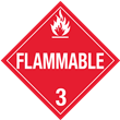 Class 3<br />FLAMMABLE LIQUID<br />Worded Placard<br />Laminated Tagboard, 50/Pack