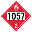 UN 1057 Class 2<br />FLAMMABLE GAS<br />4-Digit Placard<br />Laminated Tagboard, 50/Pack