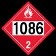 UN 1086 Class 2<br />FLAMMABLE GAS<br />4-Digit Placard<br />Removable Vinyl, 50/Pack