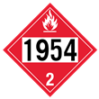 UN 1954 Class 2 <br /> FLAMMABLE GAS <br /> 4-Digit Placard <br /> Removable Vinyl, 50/Pack
