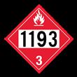 UN 1193 Class 3<br />FLAMMABLE LIQUID<br />4-Digit Placard<br />Removable Vinyl, 50/Pack