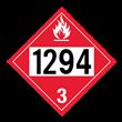 UN 1294 Class 3<br />FLAMMABLE LIQUID<br />4-Digit Placard<br />Removable Vinyl, 50/Pack