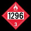 UN 1296 Class 3<br />FLAMMABLE LIQUID<br />4-Digit Placard<br />Removable Vinyl, 50/Pack
