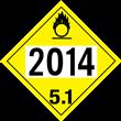 UN 2014 Class 5.1<br />OXIDIZER<br />4-DIGIT Placard