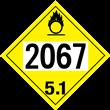 UN 2067 Class 5.1<br />OXIDIZER<br />4-Digit Placard