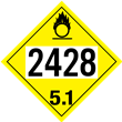 UN 2428 Class 5<br />OXIDIZER<br />4-Digit Placard<br />Laminated Tagboard, 50/Pack