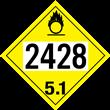 UN 2428 Class 5.1<br />OXIDIZER<br />4-Digit Placard