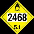 UN 2468 Class 5.1<br />OXIDIZER<br />4-Digit Placard