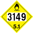 UN 3149 Class 5<br />OXIDIZER<br />4-Digit Placard<br />Laminated Tagboard, 50/Pack