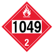 UN 1049 Class 2<br />FLAMMABLE GAS<br />4-Digit Placard<br />Laminated Tagboard, 50/Pack