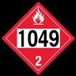 UN 1049 Class 2<br />FLAMMABLE GAS<br />4-Digit Placard<br />Removable Vinyl, 50/Pack