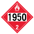 UN 1950 Class 2<br />FLAMMABLE GAS<br />4-Digit Placard<br />Laminated Tagboard, 50/Pack