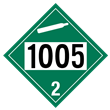 UN 1005 Class 2<br />NON-FLAMMABLE GAS<br />4-Digit Placard