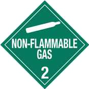 Class 2<br />NON-FLAMMABLE GAS<br />Worded Placard