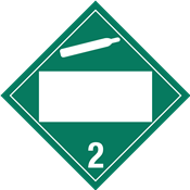 Custom<br />NON-FLAMMABLE GAS<br />CLASS 2 PLACARD