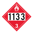 UN 1133 Class 3<br />FLAMMABLE LIQUID<br />4-Digit Placard<br />Removable Vinyl, 50/Pack