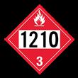 UN 1210 Class 3<br />FLAMMABLE LIQUID<br />4-Digit Placard<br />Removable Vinyl, 50/Pack