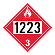 UN 1223 Class 3<br />FLAMMABLE LIQUID<br />4-Digit Placard<br />Laminated Tagboard, 50/Pack