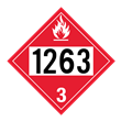UN 1263 Class 3<br />FLAMMABLE LIQUID<br />4-Digit Placard<br />Laminated Tagboard, 50/Pack