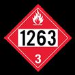 UN 1263 Class 3<br />FLAMMABLE LIQUID<br />4-Digit Placard<br />Removable Vinyl, 50/Pack