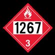 UN 1267 Class 3<br />FLAMMABLE LIQUID<br />4-Digit Placard<br />Removable Vinyl, 50/Pack