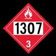 UN 1307 Class 3<br />FLAMMABLE LIQUID<br />4-Digit Placard<br />Removable Vinyl, 50/Pack
