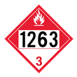 UN 1263 Class 3<br />COMBUSTIBLE LIQUID<br />4-Digit Placard<br />Laminated Tagboard, 50/Pack
