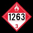 UN 1263 Class 3<br />COMBUSTIBLE LIQUID<br />4-Digit Placard