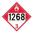 UN 1268 Class 3<br />COMBUSTIBLE LIQUID<br />4-Digit Placard<br />Laminated Tagboard, 50/Pack