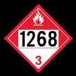 UN 1268 Class 3<br />COMBUSTIBLE LIQUID<br />4-Digit Placard