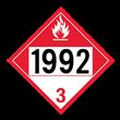 UN 1992 Class 3<br />COMBUSTIBLE LIQUID<br />4-Digit Placard