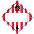 Class 4<br />FLAMMABLE SOLID<br />Blank Placard<br />Laminated Tagboard, 50/Pack
