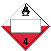 Class 4<br />SPONTANEOUSLY COMBUSTIBLE<br />Blank Placard