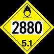 UN 2880 Class 5<br />OXIDIZER<br />4-Digit Placard<br />Removable Vinyl, 50/Pack