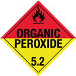 Class 5<br />ORGANIC PEROXIDE<br />Worded Placard<br />Laminated Tagboard, 50/Pack