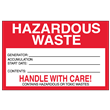 "Hazardous Waste<br />Accumulation Label<br />Tyvek® w/perm adhesive<br />6"" x 4"" Label, 500/roll"